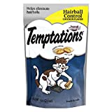 TEMPTATIONS Treats for Cats Hairball Control Chicken Flavor 2.1 Ounce (Pack of 12), With Our Mouthwatering Menu We Have a Flavor For Every Feline