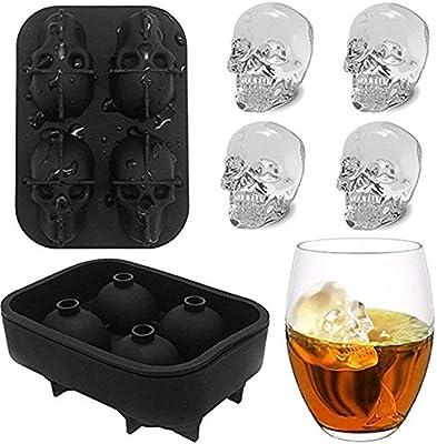 4 Cavidad Molde de silicona cubo de hielo Granada con forma de ...