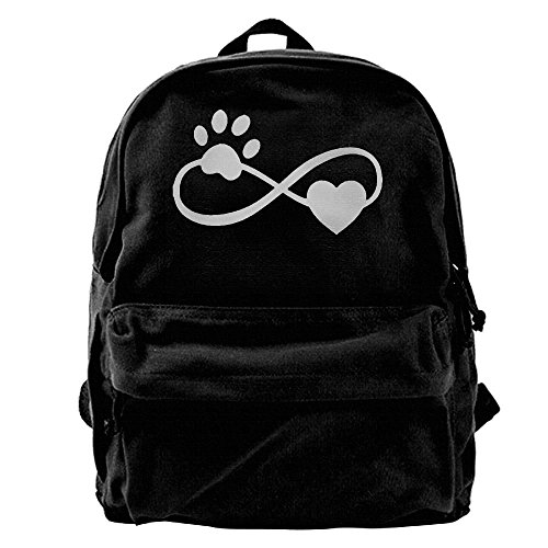 Kingser Chien Chat Patte V Cou 2018 Printemps T T Shirt Pour Les Femmes Harajuku Tumblr Kawaii Canvas Shoulder Backpack Best Graphic Sports Backpack For Men & Women Teens College Travel Daypack Black