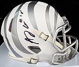 AJ Green Autographed Cincinnati Bengals White Ice Speed Mini Helmet - Beckett COA