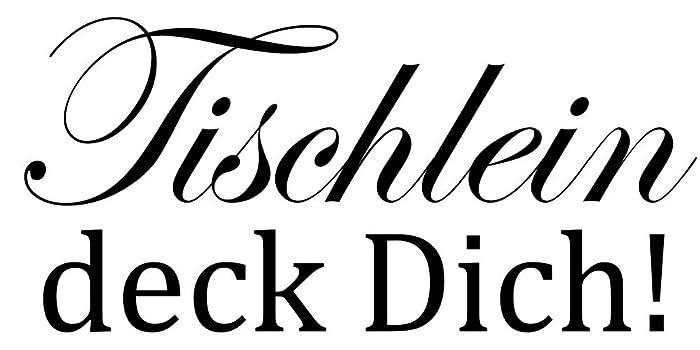 Wandtattoo Küche - Tischlein deck Dich: Amazon.de: Handmade