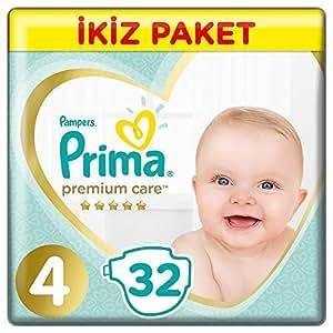Prima Bebek Bezi Premium Care 4 Beden Maxi Ekonomi Paketi, 32 Adet