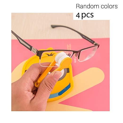 Mini Sun Glasses Eyeglass Microfiber Spectacles Cleaner Brush Cleaning Tool