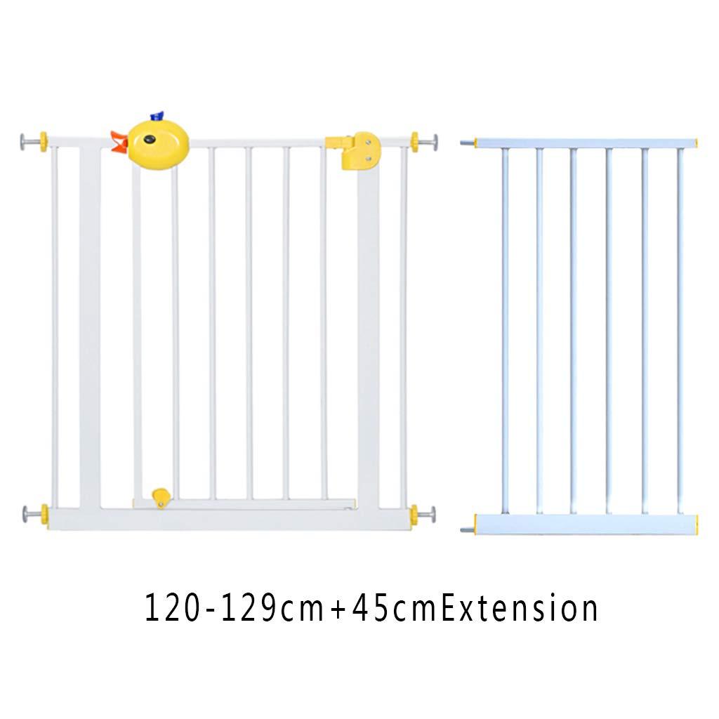 120129cm JIMII Fence, dog fence, pet safety door, indoor dog railing, isolation guard door, large and small dog door, plus extension door (Size   8594cm)
