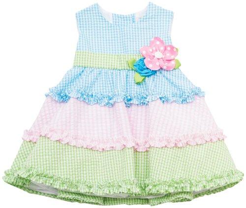 Rare Editions Baby Girl Tiered Seersucker Dress 24 Mo -