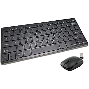 2 4ghz wireless mini keyboard and mouse combo for pc small portable ergonomic. Black Bedroom Furniture Sets. Home Design Ideas