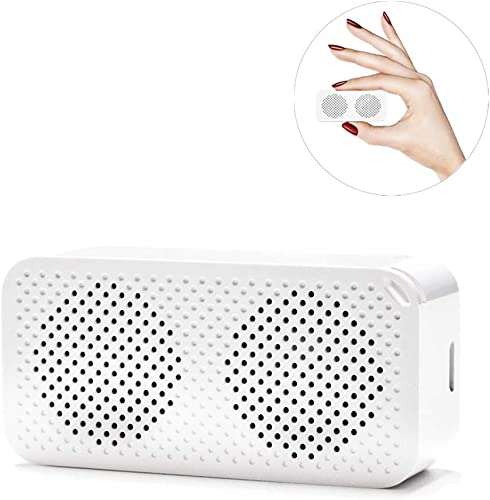 Mini Bluetooth Speaker, JohnBee TWS 5.0, Playtime 4-6H, Compatible with iOS, Android, PC, Pad White