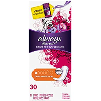 Always discreet Liners for Bladder Leaks Extra Protection 30 ea (Pack of 2)