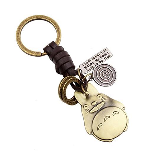 FTSOP Creative Cute DIY Handmade Retro Alloy Weave Leather Car Key Chain  for Men Women 1 dae2e4df0