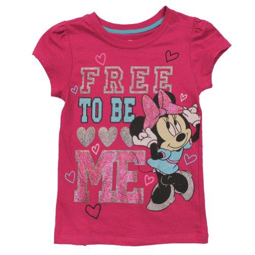 "Disney Minnie Mouse ""Free to Be Me"" Tee Shirt 4-6x (5)"