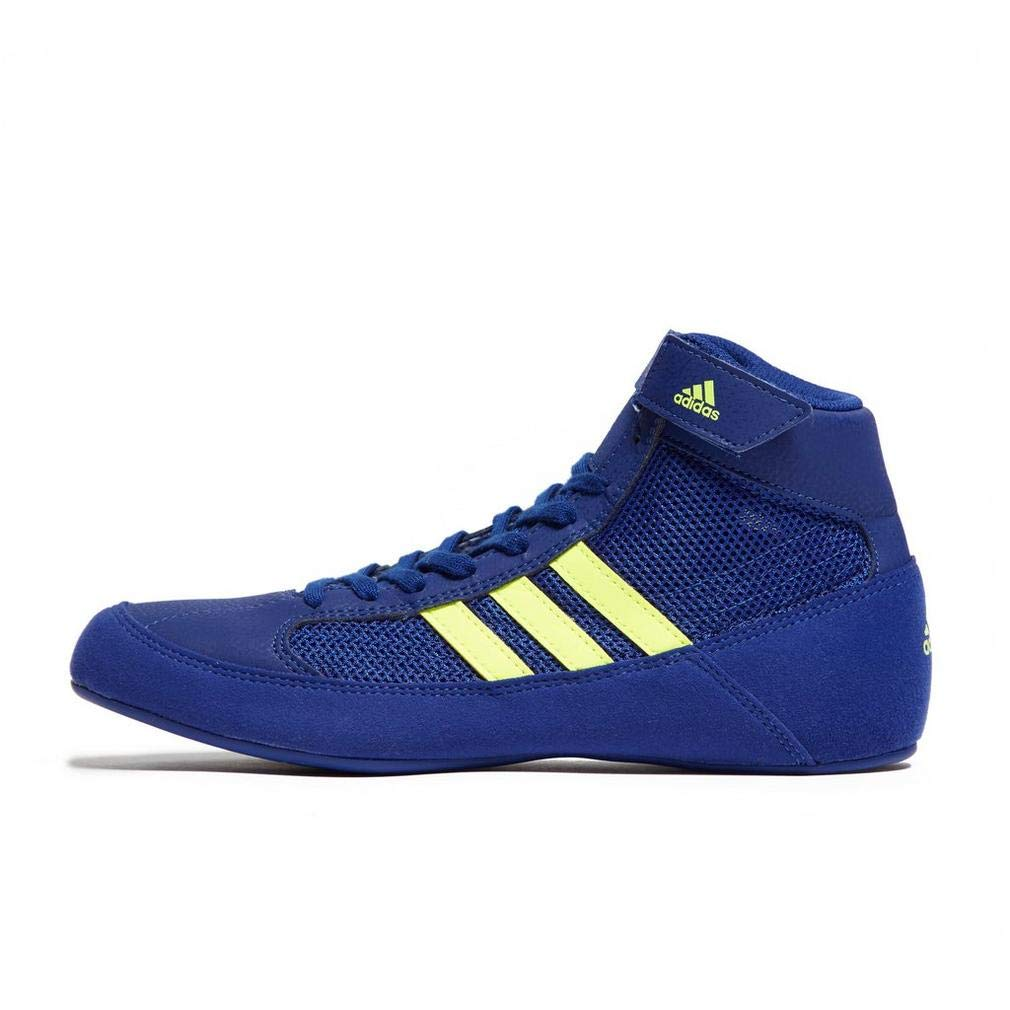 adidas Havoc Kids Junior Wrestling Trainer Shoe Boot Blue - US 6