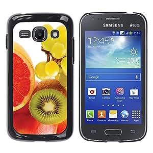 TopCaseStore / la caja del caucho duro de la cubierta de protección de la piel - Fruit Macro Kiwi Grape - Samsung Galaxy Ace 3 GT-S7270 GT-S7275 GT-S7272