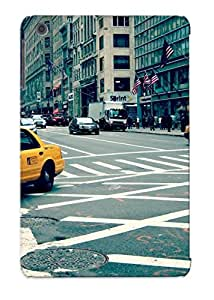 Defender Case For Ipad Mini/mini 2, Cityscapes Streets Urban Usa Traffic New York City Taxi Crossovers Sidewalks Pattern, Nice Case For Lover's Gift
