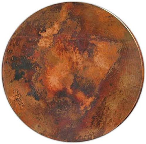 www.mycustommade.net Round Copper Table Top Light Patina 36