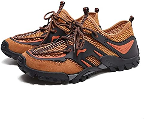 Zapatos De Senderismo - Zapatos De Vadeo | Zapatos De Pareja | Calzado De Pesca | Transpirable | Antideslizante | Verano | Marrón Zapatillas Trekking Hombre Zapatillas Montaña Muje (Size : 43 1/3) : Amazon.es: Hogar