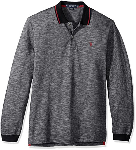 U.S. Polo Assn. Mens Classic Fit Solid Long Sleeve Pique Shirt