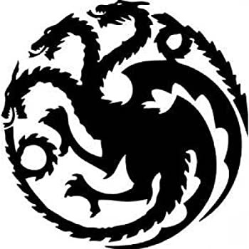 Amazon Com Game Of Thrones House Targaryen Khaleesi Dragons Logo