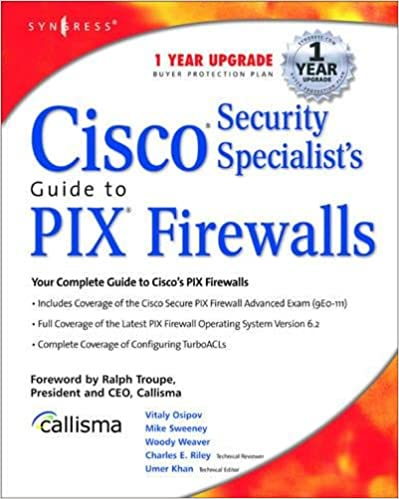 Cisco Security Specialist's Guide to PIX Firewall