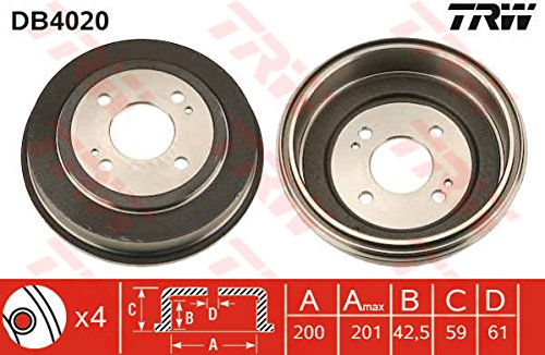 TRW DB4020 Brake Drums: