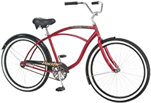 Pacific Cycle Men's Oceanside Bicycle (Charcoal & Red)