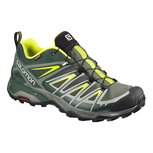 Salomon X Ultra 3 GTX – Castor Gray/Darkest Spruce/Acid Lime, 13.5