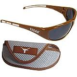 Siskiyou NCAA Texas Longhorns Wrap Sunglasses & Sport Case, Orange