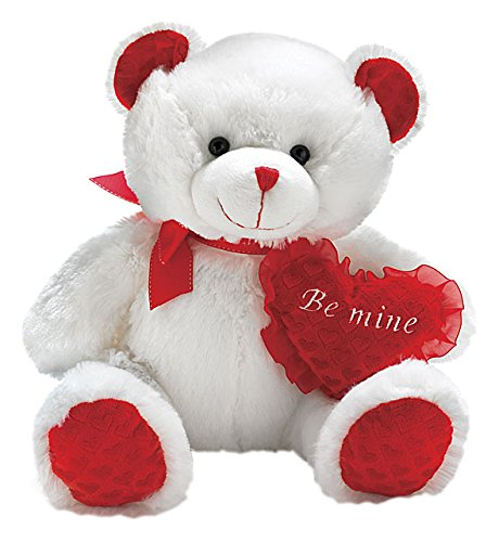 Burton & Burton Carla Red Heart Be Mine Valentine Plush Bear (Mine Be Valentine)