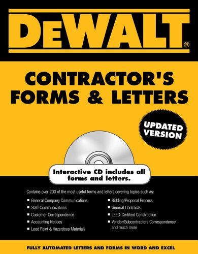 DEWALT Contractor's Forms & Letters (DEWALT Series)