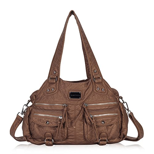 Hynes Victory Front Zip Retro Soft Handbag Shoulder Bag for Women (Handbag Soft)