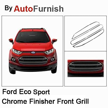 Autofurnish Chrome Finisher Front Grill For Ford Ecosport