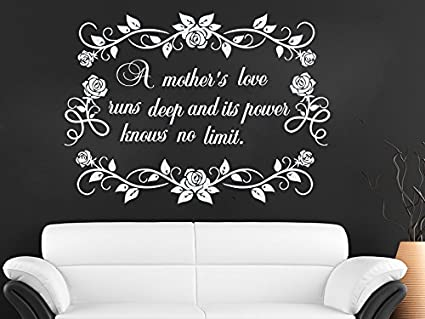 Amazon Com Wall Decals Quote A Mother S Love Runs Deep Decal