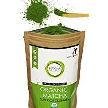 Matcha Green Tea Powder - Superior Culinary - USDA Organic From Japan -Natural Energy & Focus Booster, Antioxidant Packed. Matcha Tea For Mixing In Lattes, Smoothies & Baking 1.05oz By Matcha Wellness
