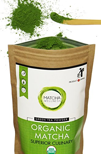 Matcha Green Tea Powder - Superior Culinary - USDA Organic From Japan -Natural Energy & Focus Booster Packed With Antioxidants.