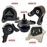 OMNI 5 Fits 03-10 Honda Element 2.4L w/ MANUAL, Motor & Trans Mount Set 5PCS 03 04 05 06 07 08 09 10 A4549, A4573, A65010, A4504, A4528: K986-05