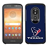 Prime Brands Group Cell Phone Case for Motorola Moto E5 Cruise/E5 Play - NFL Licensed Houston Texans - Blue Textured Back Cover on Black TPU Skin