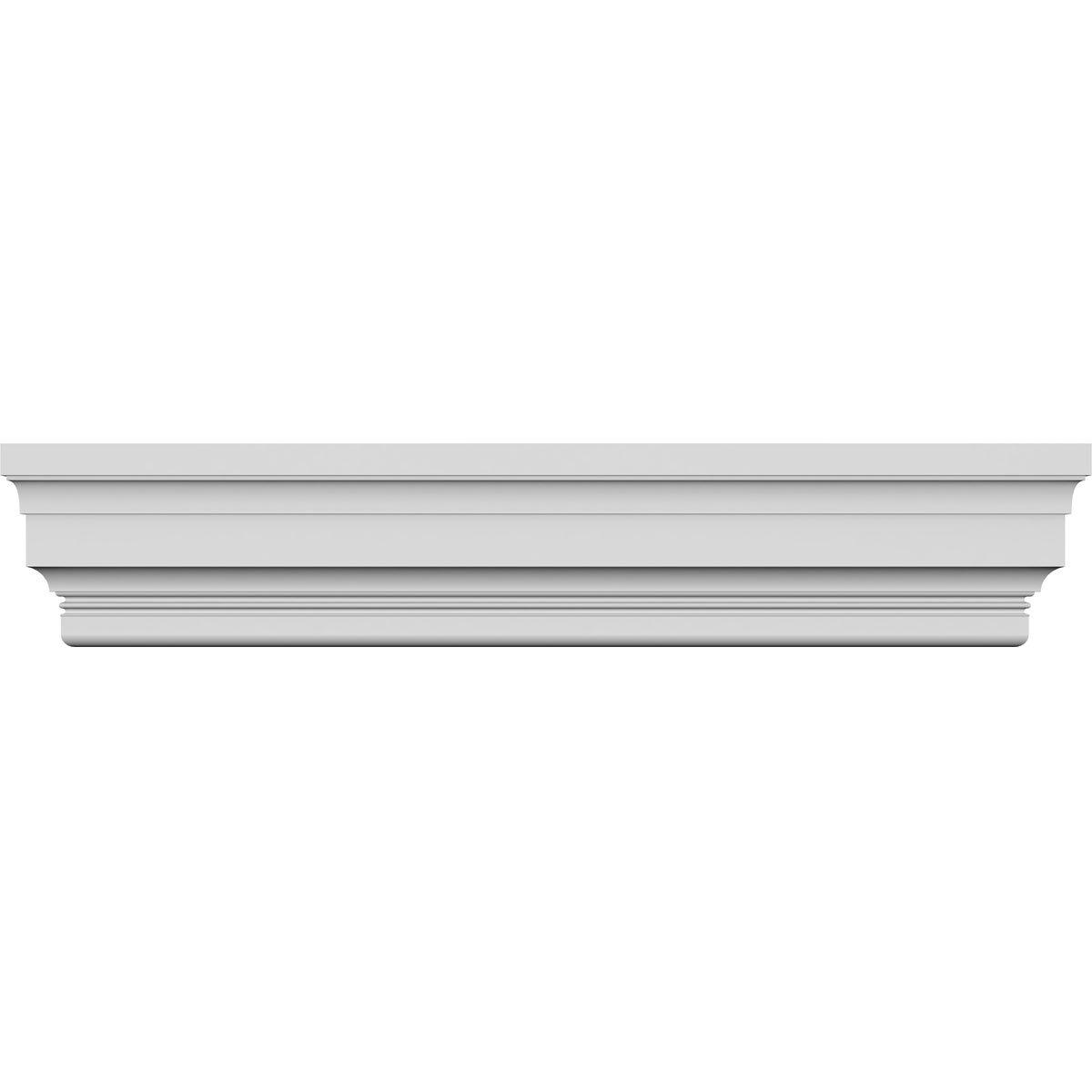 Ekena Millwork CRH12X78ST 78'' Bottom 83 3/4'' Top Width x 11 7/8'' H x 5/8'' P Standard Crosshead, Width Width, Factory Primed White by Ekena Millwork