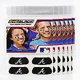 (24 Strips) Eye Black - Atlanta Braves MLB Eye Black Anti Glare Strips, Great for Fans & Athletes on Game Day