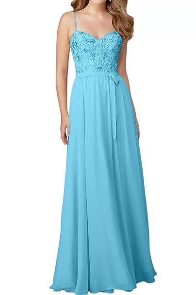 Braut Spaghetti Rosa Chiffon La Anmutig Traeger Abendkleider marie b6mYvIgyf7
