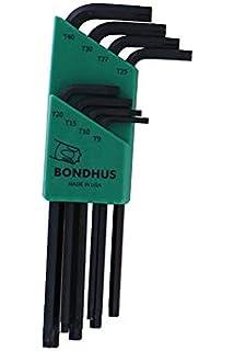 longitud larga Bondhus 22199 Llave en L hexagonal doble paquete multicolor 0,050-3//8 pulgadas 12137 y 12199 1,5-10 mm