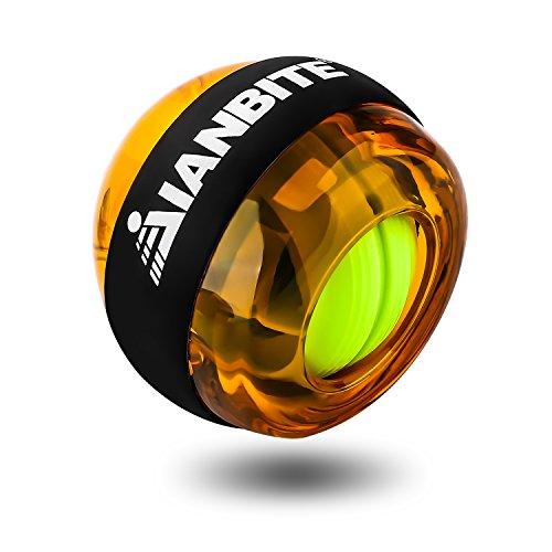 RSLOVE Wrist Ball Gyroscopic Wrist and Forearm Exerciser Strengthener Ball Power Force Ball Orange