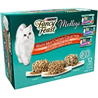 3-Pack Purina Fancy Feast Elegant Medley Chicken Variety 12 count 3 oz + $10 Gift Card