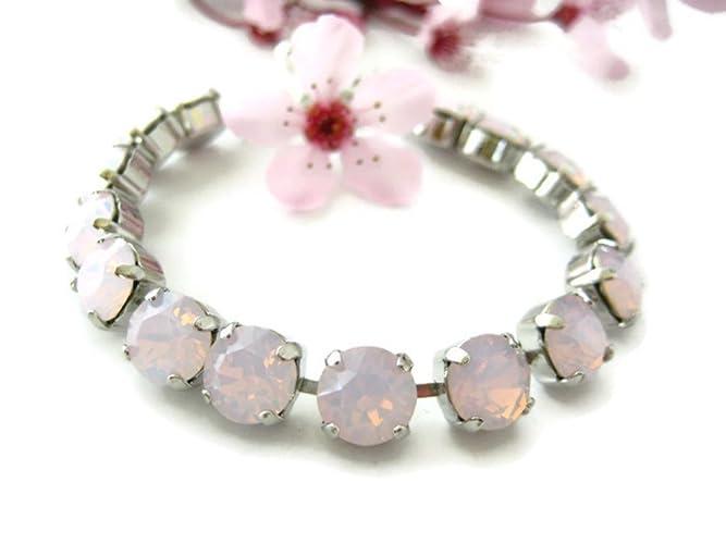 9aca68d67a310 Amazon.com: Swarovski Crystal Bracelet - Rose Water Opal Rhinestone ...