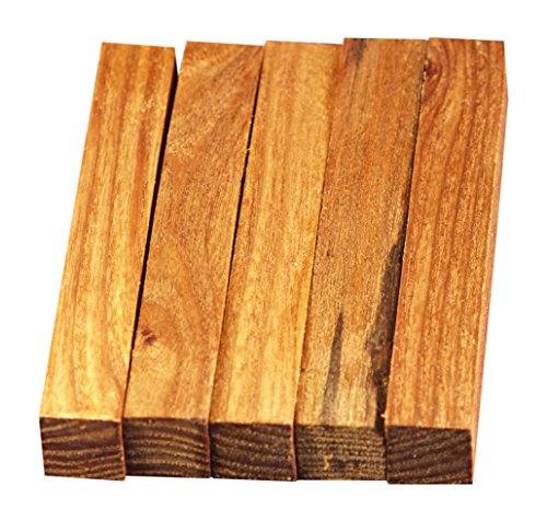 North American Slippery Elm Wood Turning Pen Blanks   Wood Pen Blanks 5 Pack   3 4  X 3 4  X 5