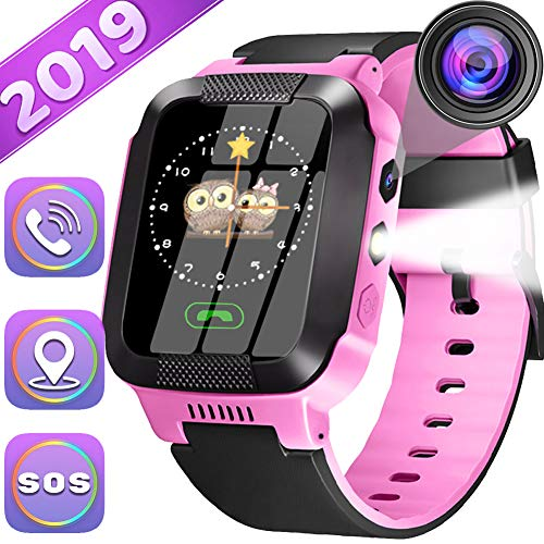 Kids Smartwatch Best GPS Tracker 3-12 Year Old Boys Girls Child Phone Watch with Digital Camera Touchscreen SOS Games Childrens Sports Smart Wrist Electronic Learning Toys Holiday Birthday Gifts