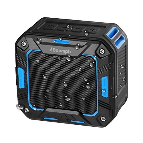Boom Phone Mini Cell (Portable Bluetooth Wireless Speaker for Shower or Outdoor By Boomph. Water Resistant & Shockproof : Rechargeable, Enhanced 10 Hr Battery, Pairs All Bluetooth Devices, BLUE tooth Color)