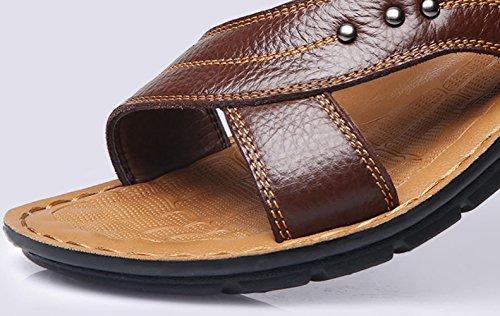 Viaje Playa A Zapatos Movimiento Los Transpirable Libre Aire Sandalias De Cuero Zapatos Al Verano De De Ocio Hombres Pies Antideslizante En De zqgZpw1Tz
