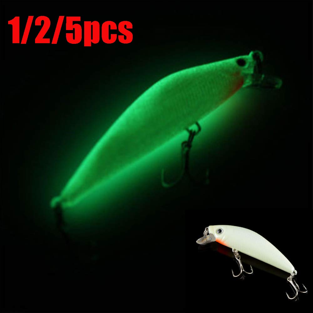 Fishing Lures Minnow Hard Luminous Crank Bait Night Fish Popper With Hooks Carp