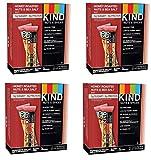 KIND Bars, Honey Roasted Nuts and Sea Salt, Gluten Free, Low Sugar, 1.4oz, 48 Bars