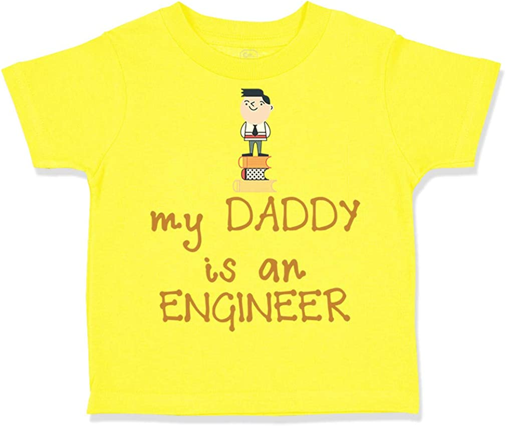 Custom Toddler T-Shirt My Daddy is The Engineer Dad Fathers Day Cotton