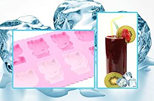 USPRO Silicone Soap Candle Making Fondant Tool Chocolate Mold Hard Candy Mould Ice Cube Tray Kit Party Supply (Hello Kitty) Random Color …